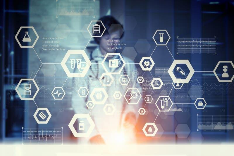 Download Современная медицинская концепция технологий Мультимедиа Иллюстрация штока - иллюстрации насчитывающей здоровье, потребитель: 81808668