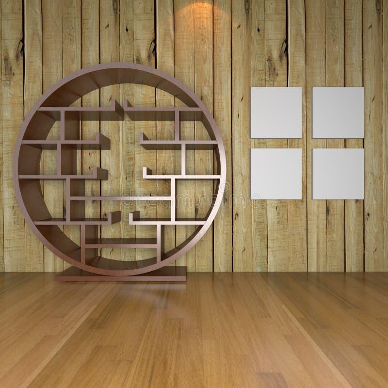 Современная минималист пустая живущая комната иллюстрация вектора