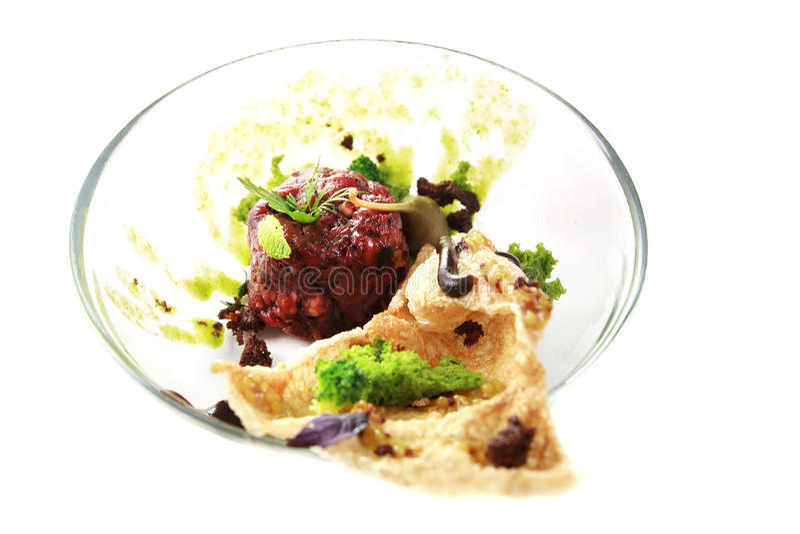 Современная молекулярная кухня стоковое изображение