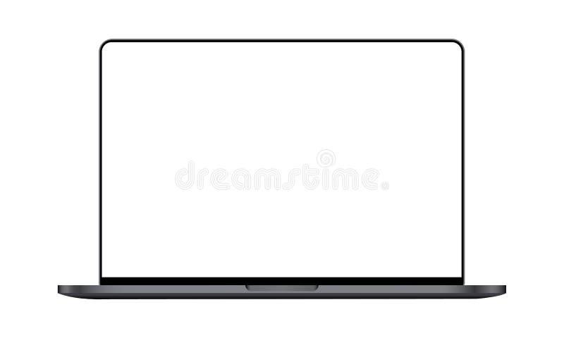 Современная насмешка ноутбука вверх бесплатная иллюстрация