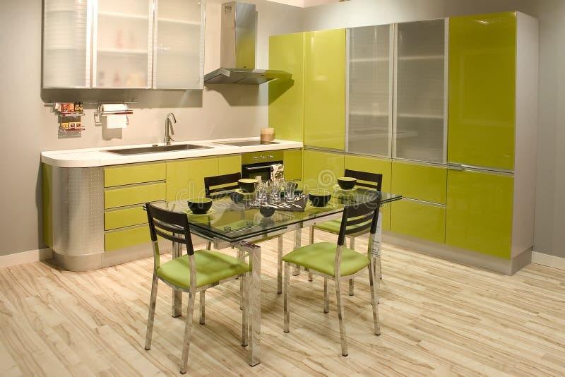 современная нутряная кухня стоковое изображение rf