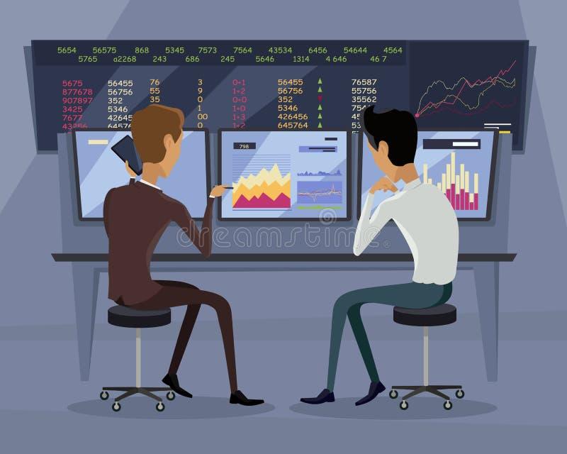 Современная онлайн торгуя иллюстрация технологии иллюстрация вектора