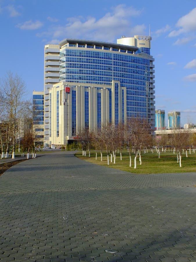 Современная организация бизнеса в Астане/Казахстане стоковые фото
