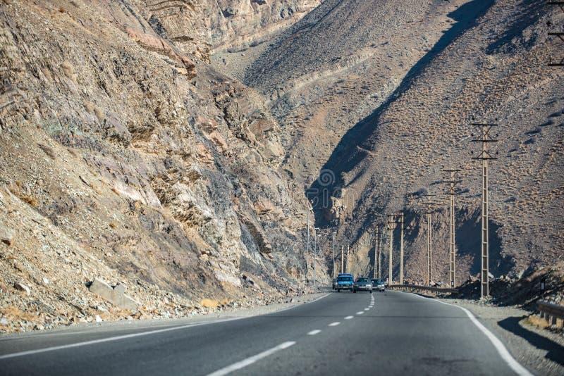 Современная дорога горы в Иране стоковые фотографии rf