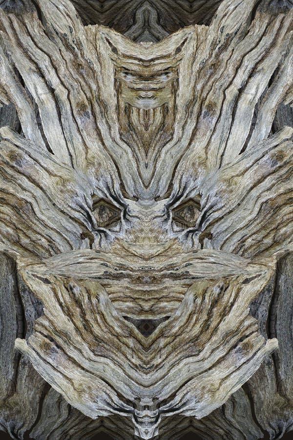 Современная печать с деревянной стороной Коллаж в сером, коричневый, biege Сторона дерева стоковая фотография