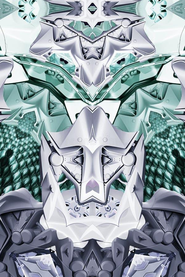 Современная печать с змейкой, древесиной, автомобилем концепции и мотоциклом стоковое изображение