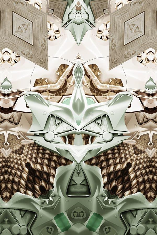 Современная печать с змейкой, древесиной, автомобилем концепции и мотоциклом стоковое изображение rf