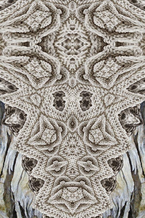 Современная печать с knit и древесиной стоковые фотографии rf