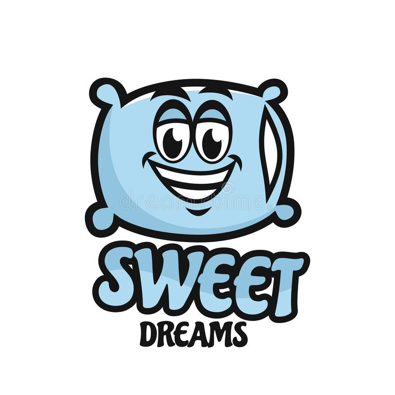 Современная подушка талисмана и сладкий логотип мечты бесплатная иллюстрация