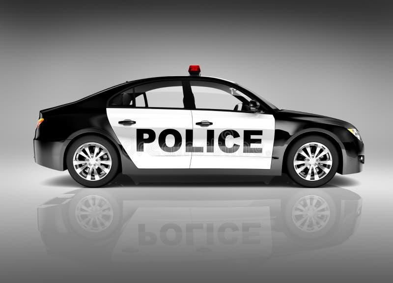 современная полицейская машина спорта 3D стоковое изображение