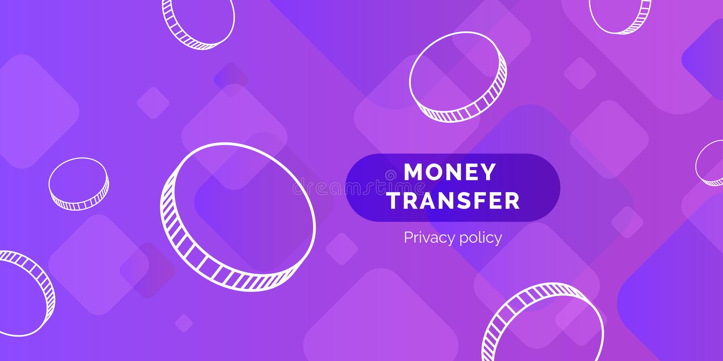 Современная предпосылка денежного перевода иллюстрация вектора