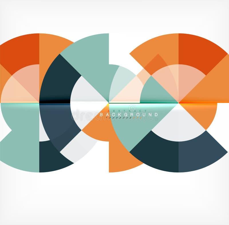 Современная предпосылка конспекта круга иллюстрация вектора