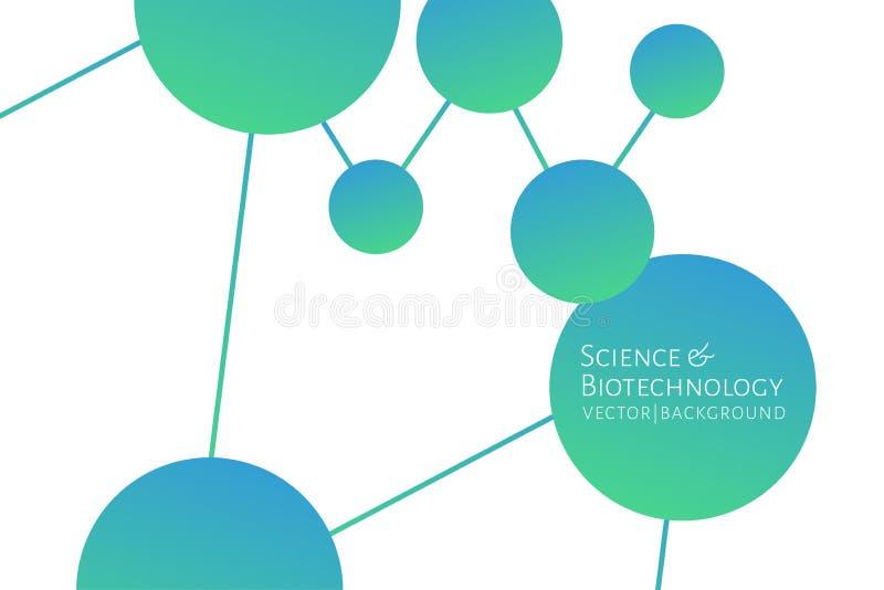 Современная предпосылка с шестиугольниками, химическими соединениями, картиной молекул Медицина, наука, биотехнология, лекарствов бесплатная иллюстрация