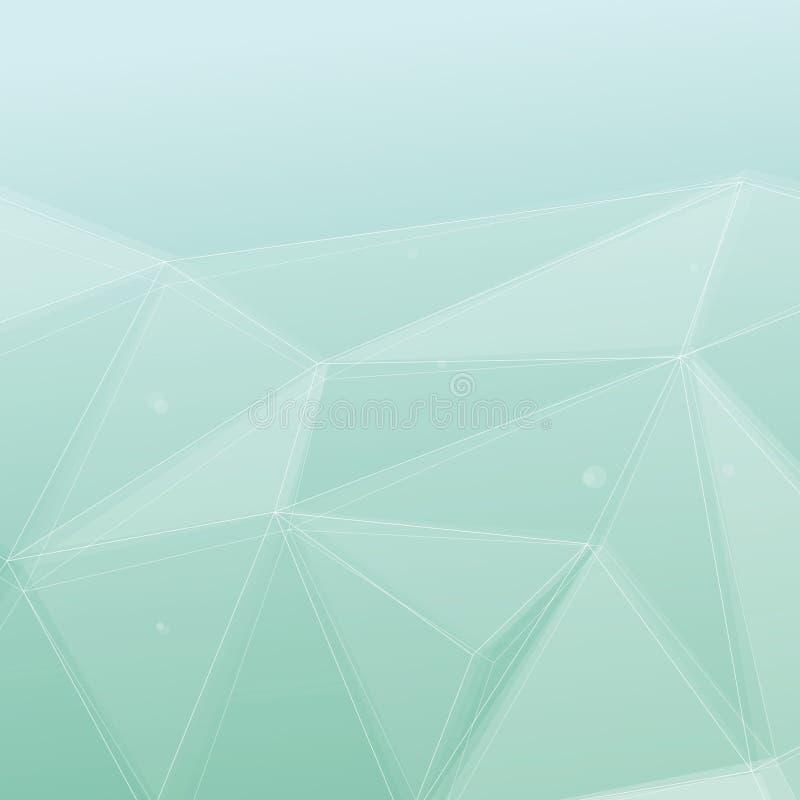 Современная предпосылка зеленого цвета кристаллической структуры иллюстрация вектора