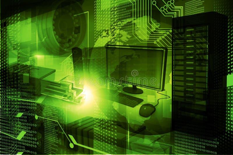 Современная предпосылка цифровой технологии иллюстрация вектора
