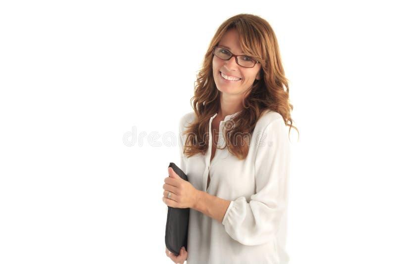 Современная привлекательная бизнес-леди стоковая фотография