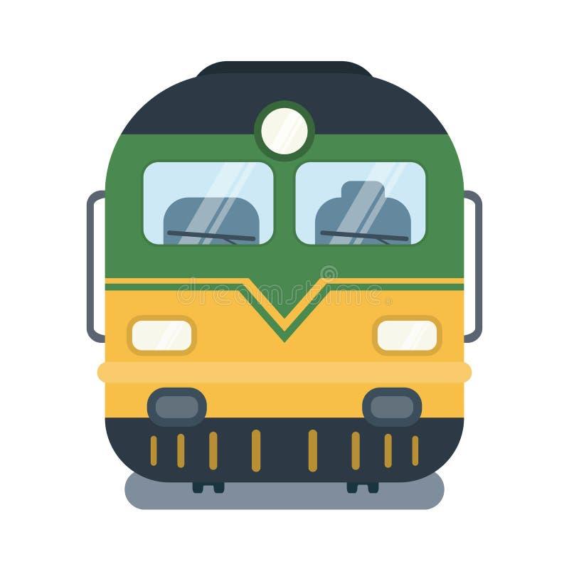Современная плоская иллюстрация лицевой стороны локомотива иллюстрация штока