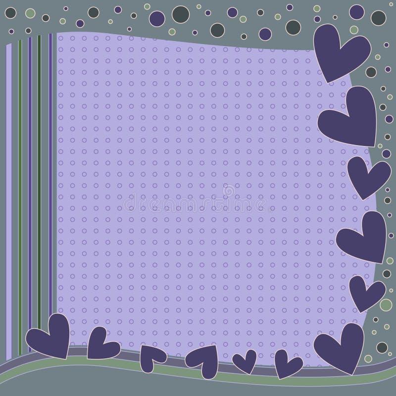 Современная романтичная предпосылка с сердцами и точками иллюстрация штока