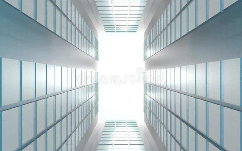 Современная современная предпосылка светов на отражательных панелях бесплатная иллюстрация