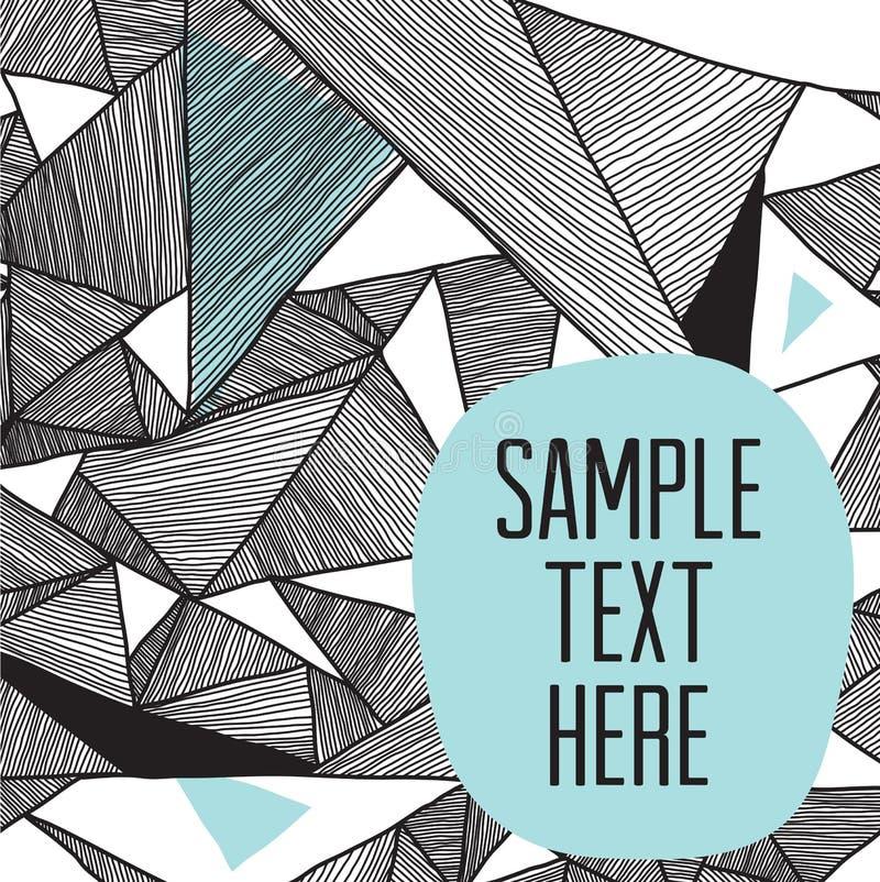 Современная структурная предпосылка геометрических триангулярных картин бесплатная иллюстрация
