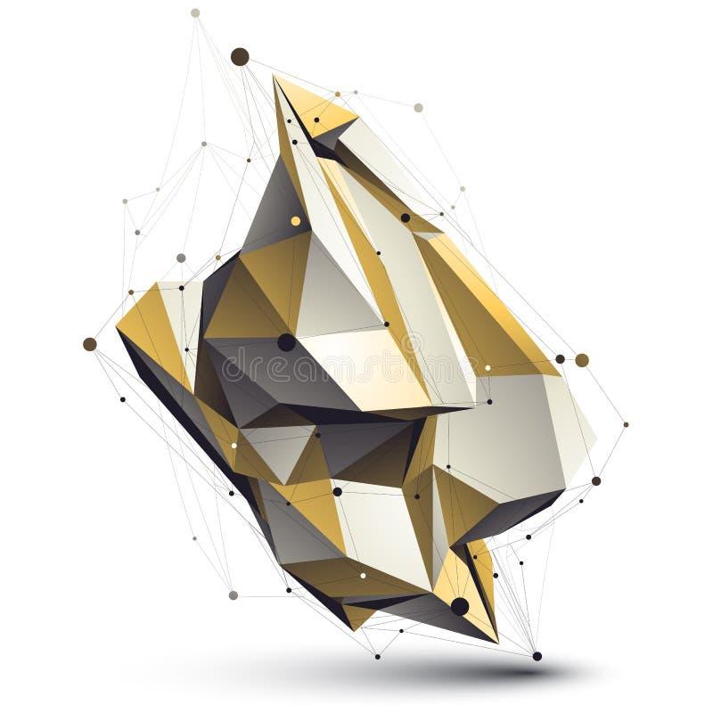 Современная техническая деформированная конструкция, абстрактное 3d бесплатная иллюстрация