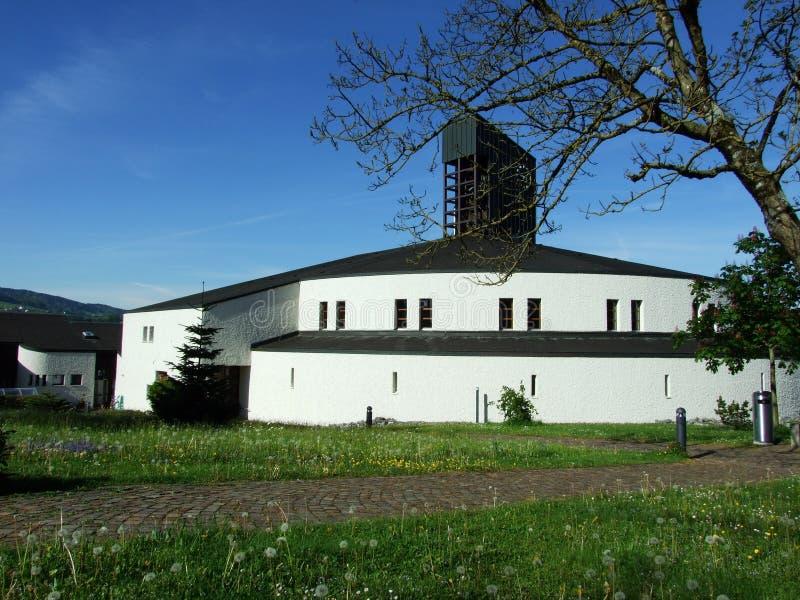 Современная церковь в Gossau стоковое фото rf