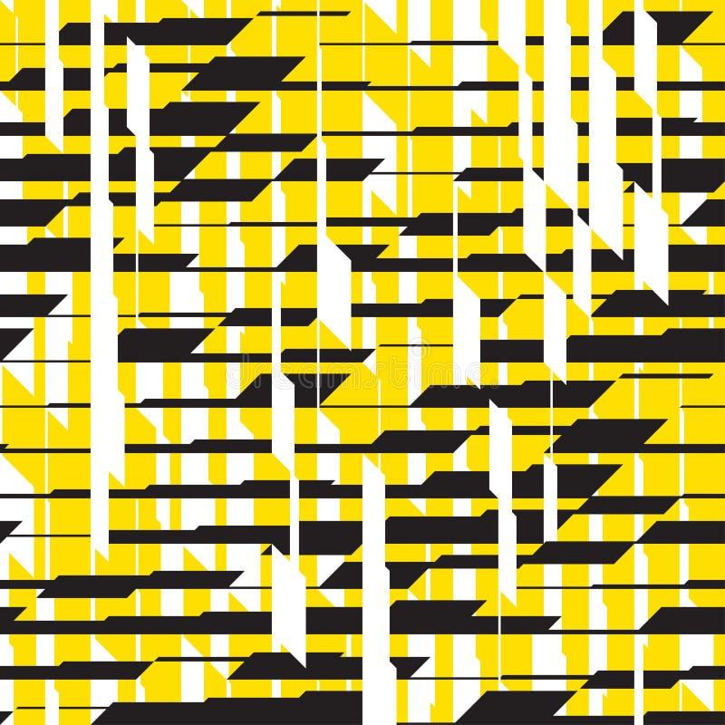 Современная черная и желтая striped безшовная картина иллюстрация штока