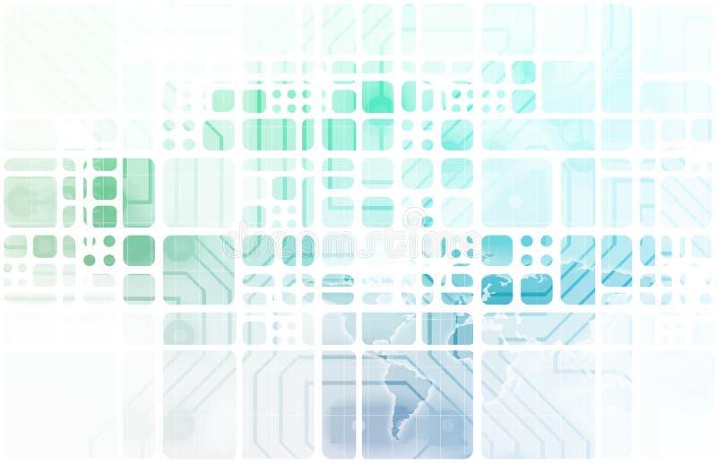 Современная экономика цифров иллюстрация вектора