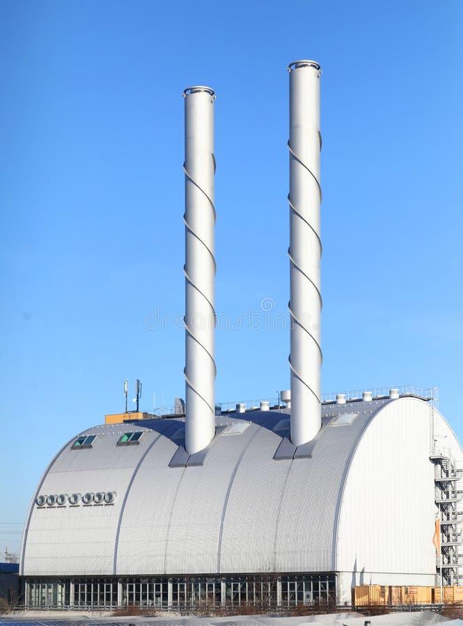 Современная электростанция стоковое изображение