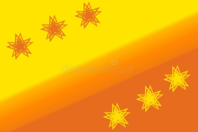 Современная яркая оранжевая абстрактная предпосылка со звездами иллюстрация вектора