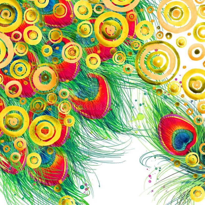 Современное абстрактное искусство Современная предпосылка акварели иллюстрация вектора