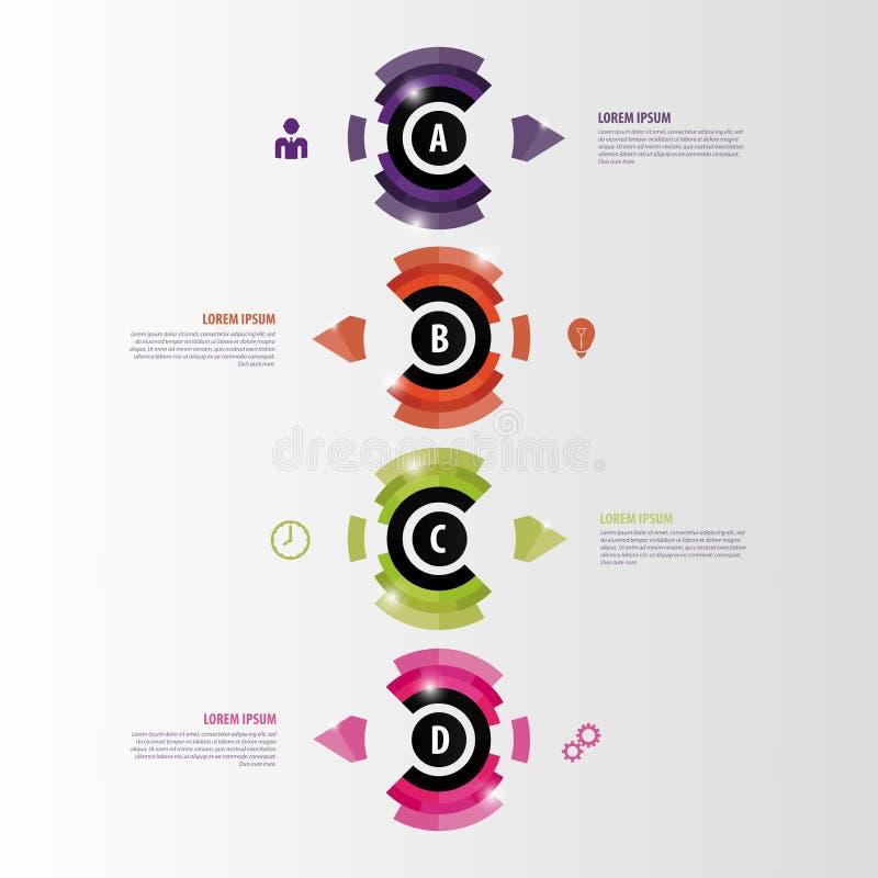 Современное абстрактное infographics люди рекламируя дела коммерчески намереваются женщины шаблона рубашки соответствующие t вект иллюстрация вектора