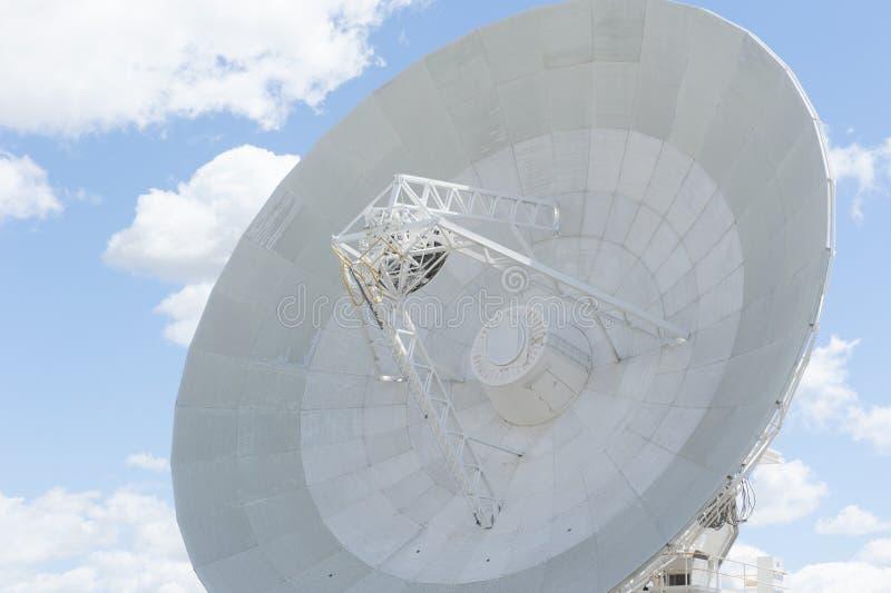 Современное блюдо телескопа для астрономической науки стоковое изображение rf