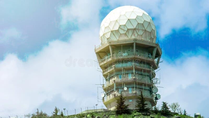 Современное здание лаборатории космического исследования, станция метеорологии, наука стоковое фото rf