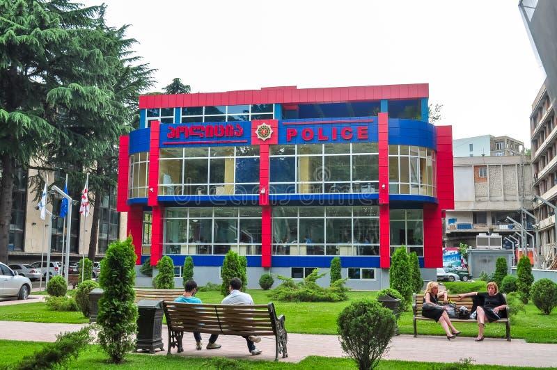 Современное здание полиции в Тбилиси, Georgia стоковое изображение rf