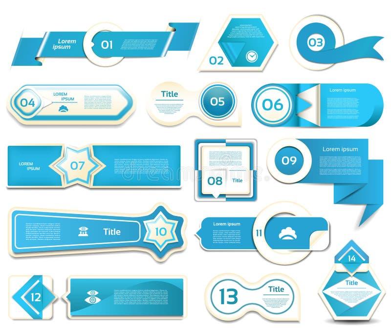 Современное знамя вариантов infographics также вектор иллюстрации притяжки corel можно использовать для плана потока операций, di иллюстрация штока