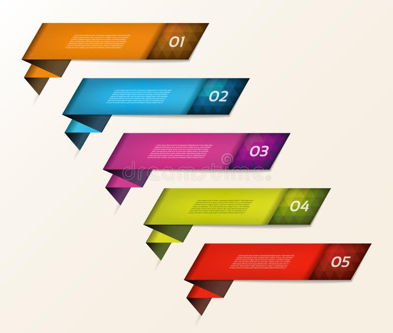 Современное знамя вариантов infographics также вектор иллюстрации притяжки corel можно использовать для плана потока операций, di бесплатная иллюстрация