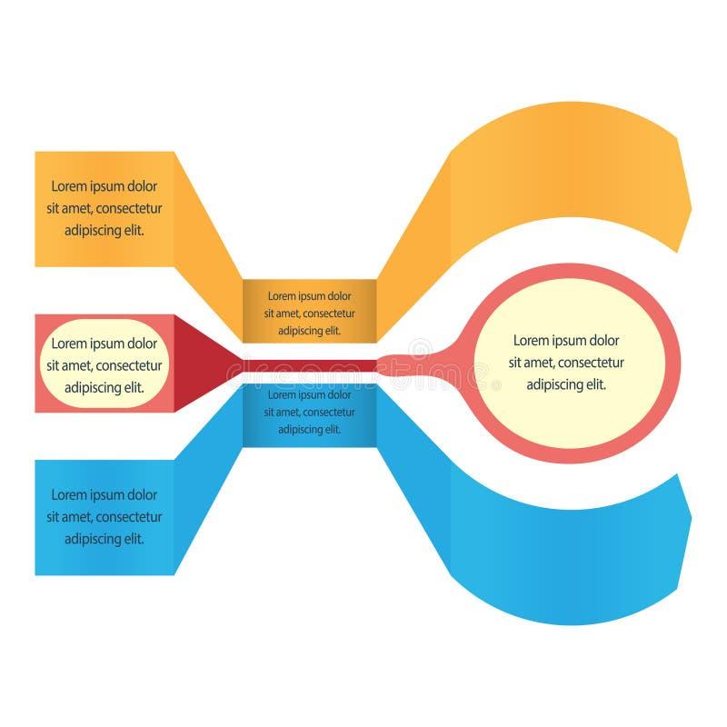 Современное знамя вариантов infographics иллюстрация вектора