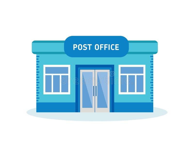 Современное здание почтового отделения, внешний интерьер дома иллюстрация штока