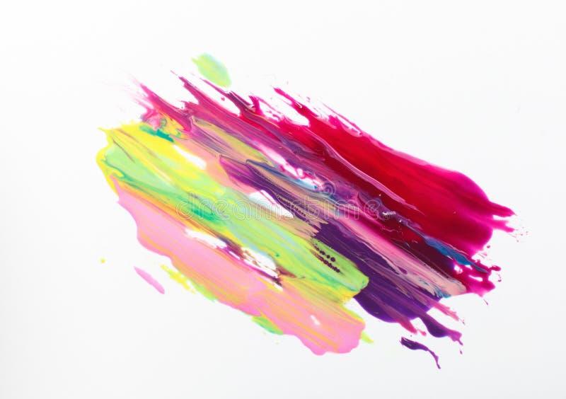 Современное искусство, красочная яркая картина сделайте продукты маникюра вверх стоковое фото rf
