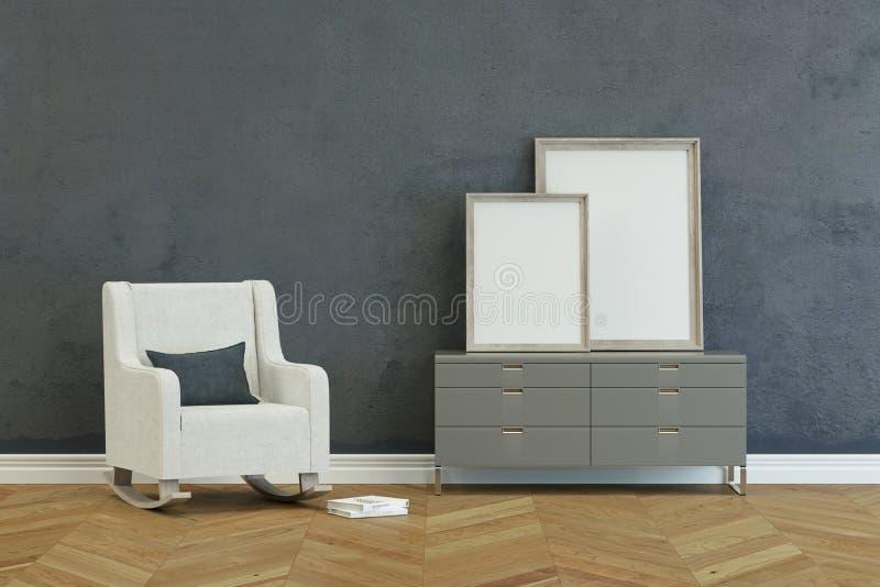 Современное кресло с commode иллюстрация штока