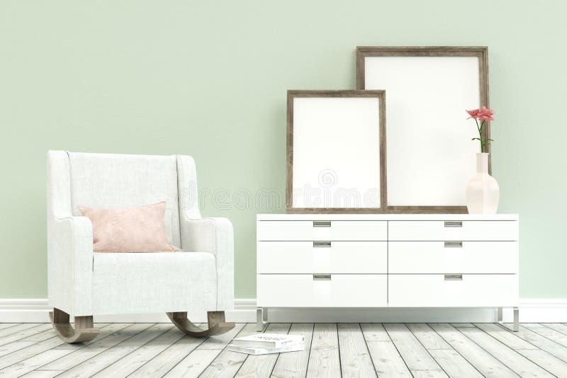 Современное кресло с commode иллюстрация вектора