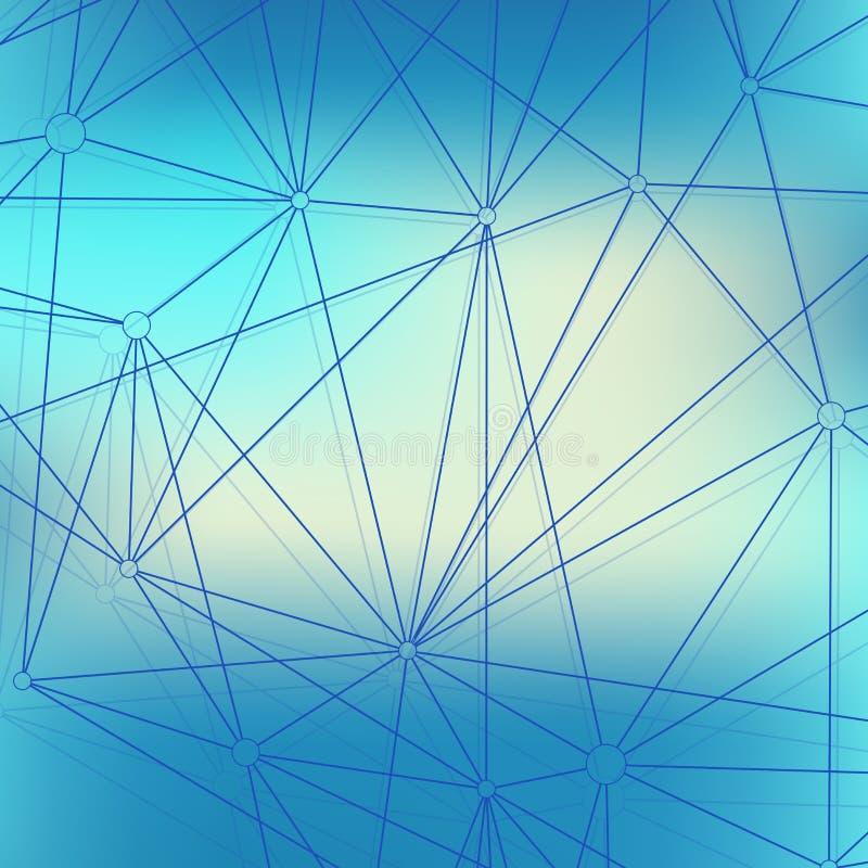 Современное дна молекулы структуры Атом Молекула и предпосылка связи для медицины, науки, технологии, химии иллюстрация штока