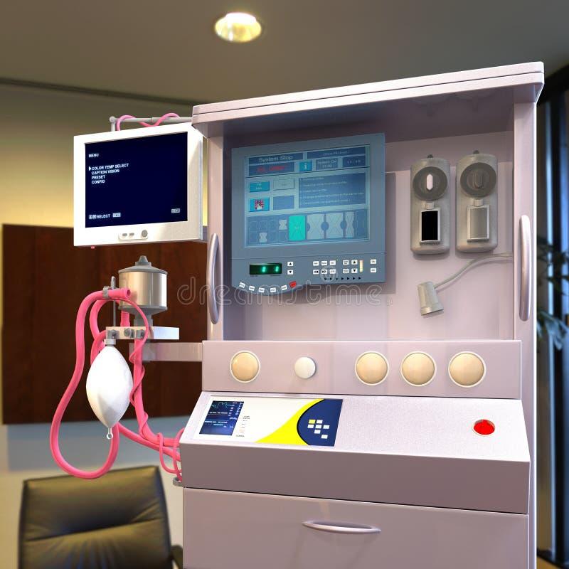 Современное оборудование больницы стоковое изображение rf