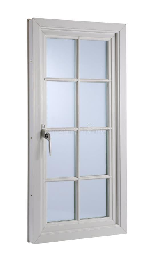 Современное окно PVC белизны стоковое фото