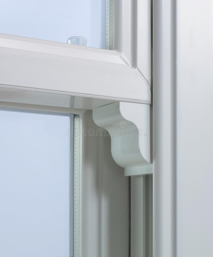 Современное окно PVC белизны стоковые изображения rf