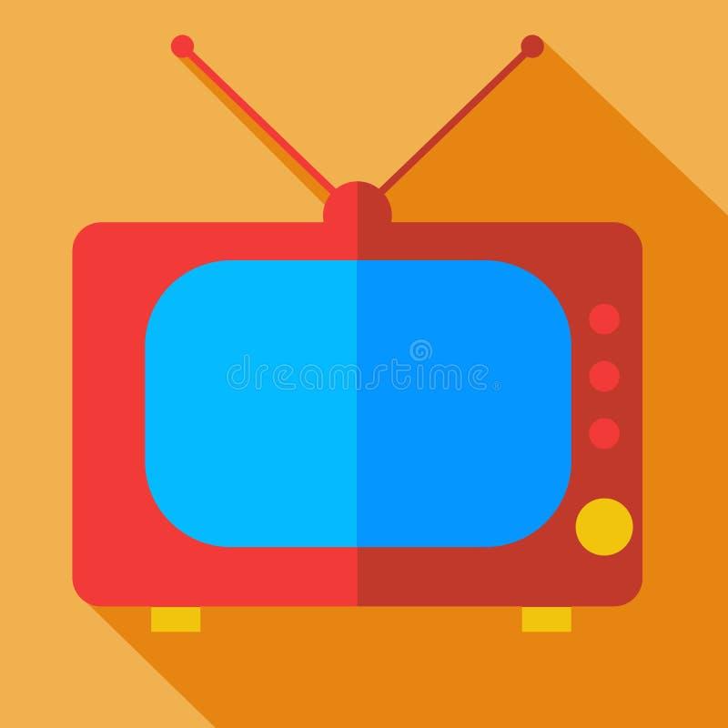 Современное плоское ТВ монитора значка идеи проекта бесплатная иллюстрация