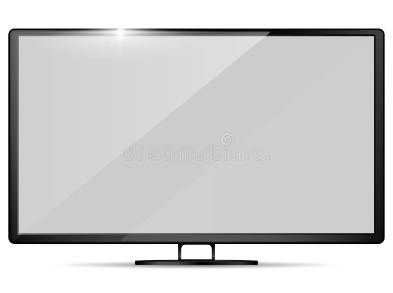 Современное реалистическое ТВ Модель-макет телевизора также вектор иллюстрации притяжки corel иллюстрация вектора
