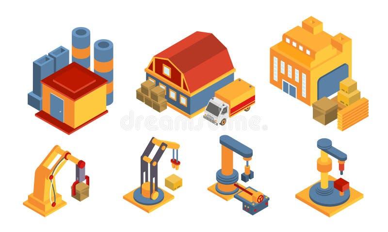 """Современное складское здание и комплект оборудования, логистика, Ñ""""Ñ€Ð°Ñ…Ñ бесплатная иллюстрация"""