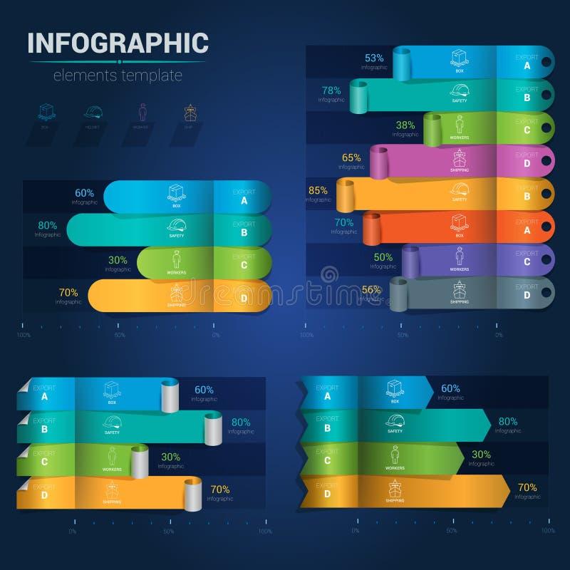 Современное infographics диаграммы турника Творческий, infographic иллюстрация вектора